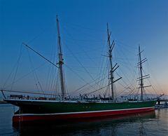 abends am Hafen in Hamburg