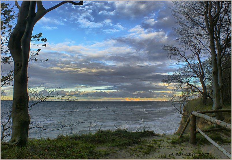 Abends am Kliff der Stolteraa
