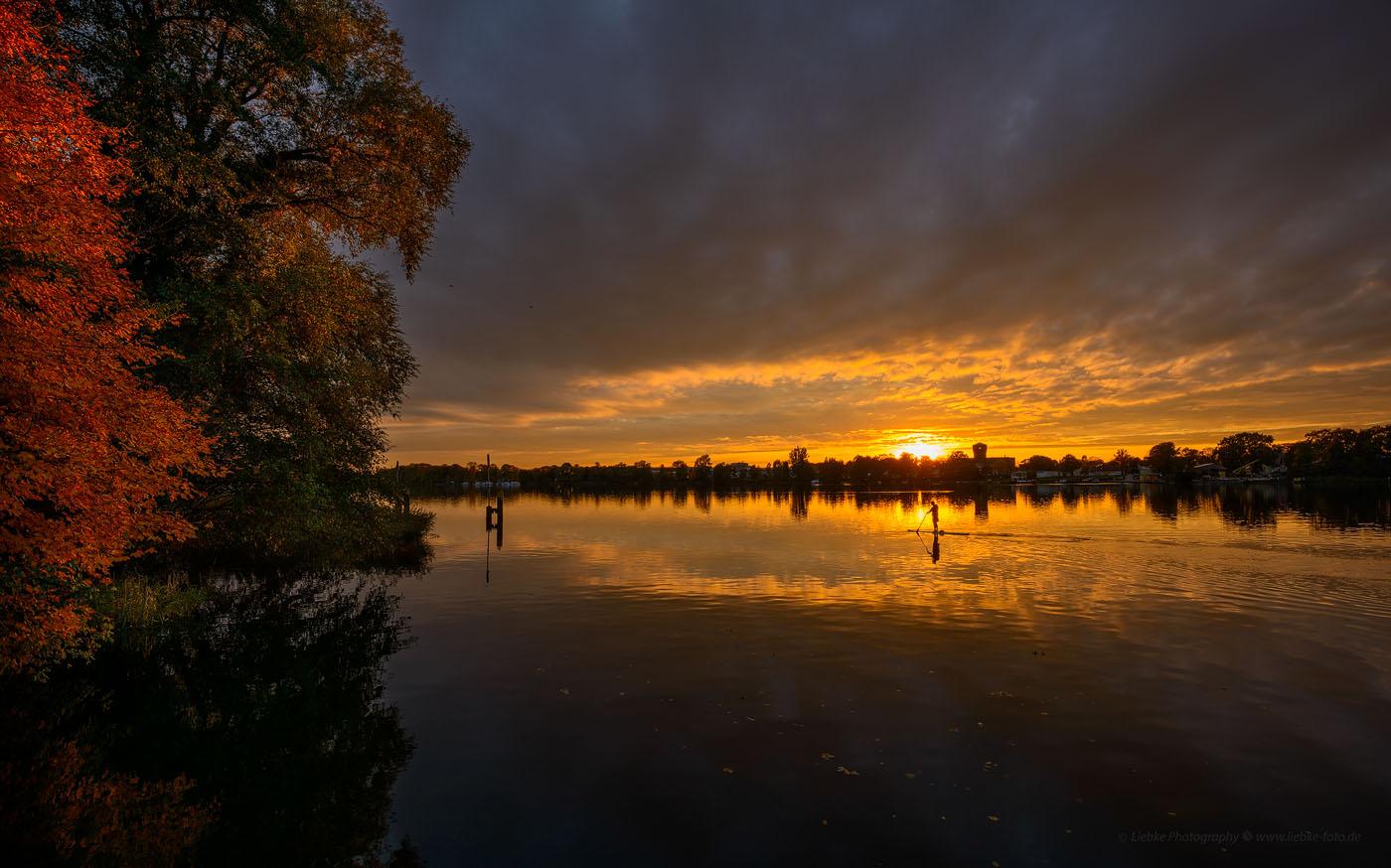 Abends am Lehnitzsee Oranienburg