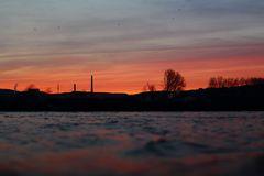 Abends am Rhein 1