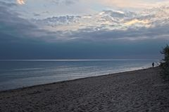 - abends am Strand -