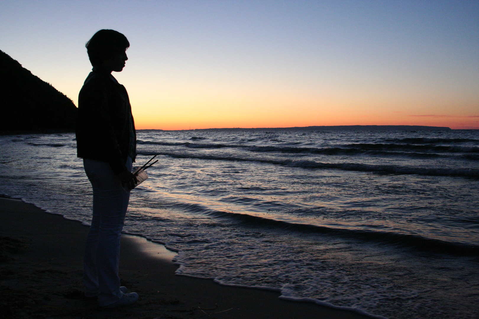Abends am Strand, Insel Rügen, Sellin