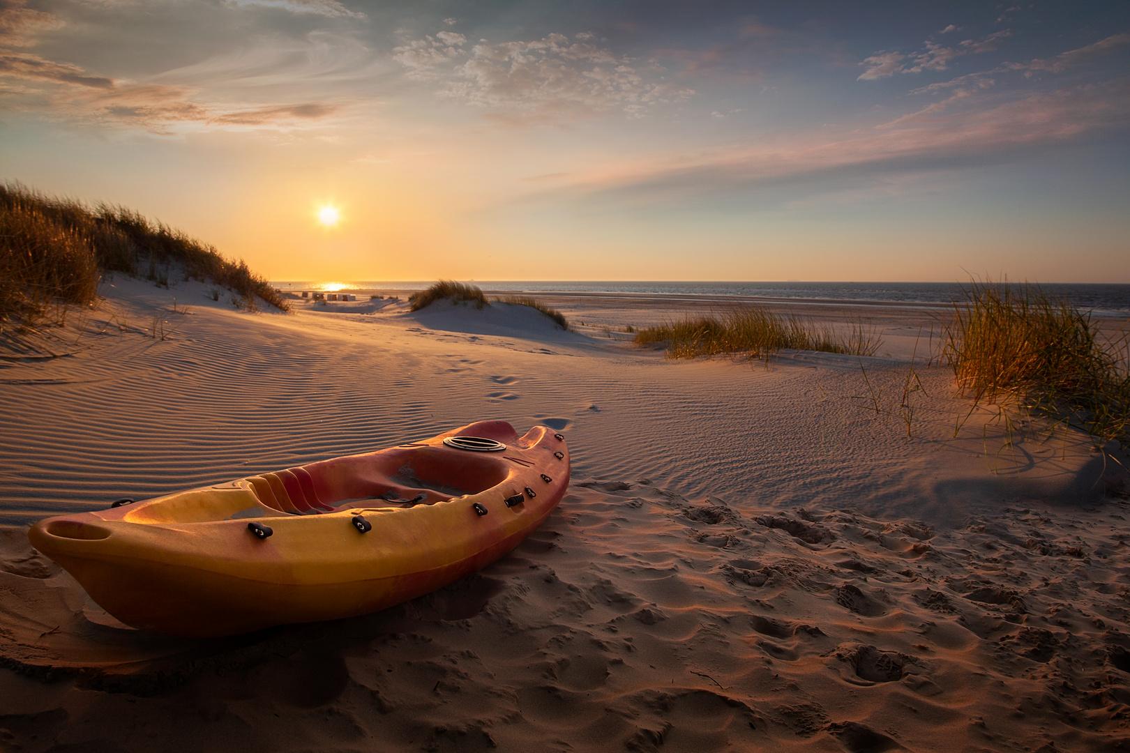 Abends am Strand meiner Träume