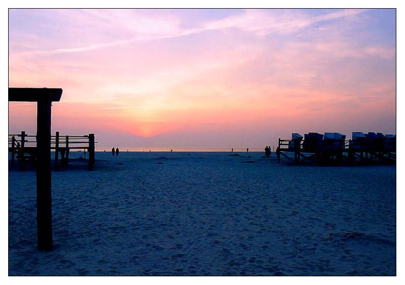 Abends am Strand von St. Peter-Ording