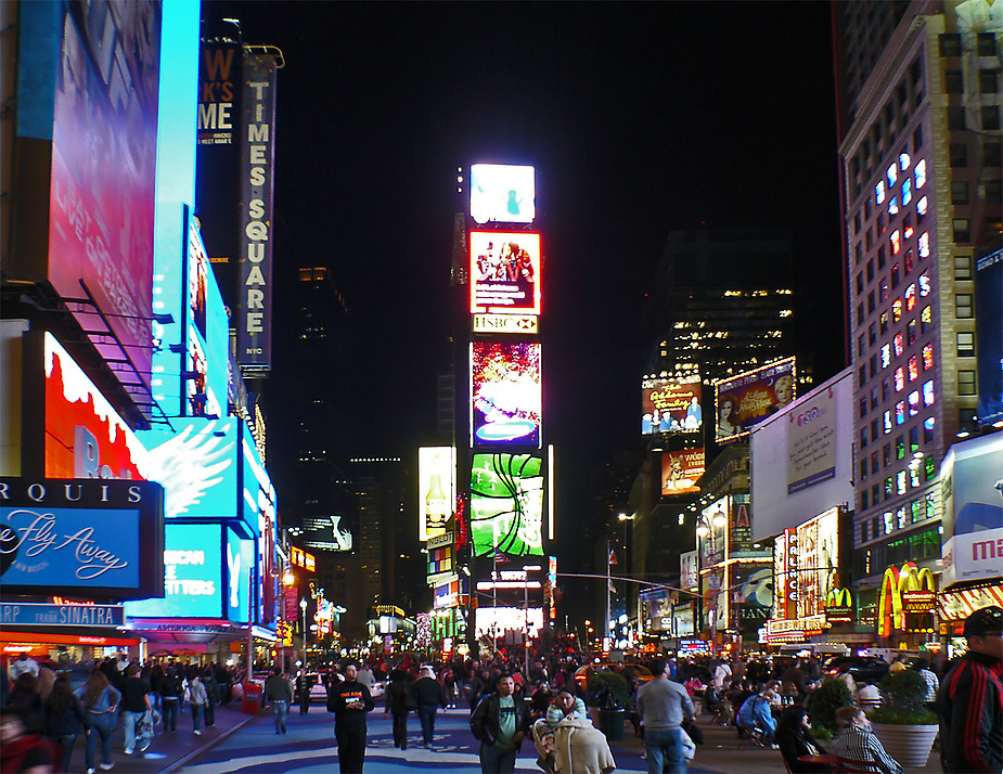 abends am Time Square
