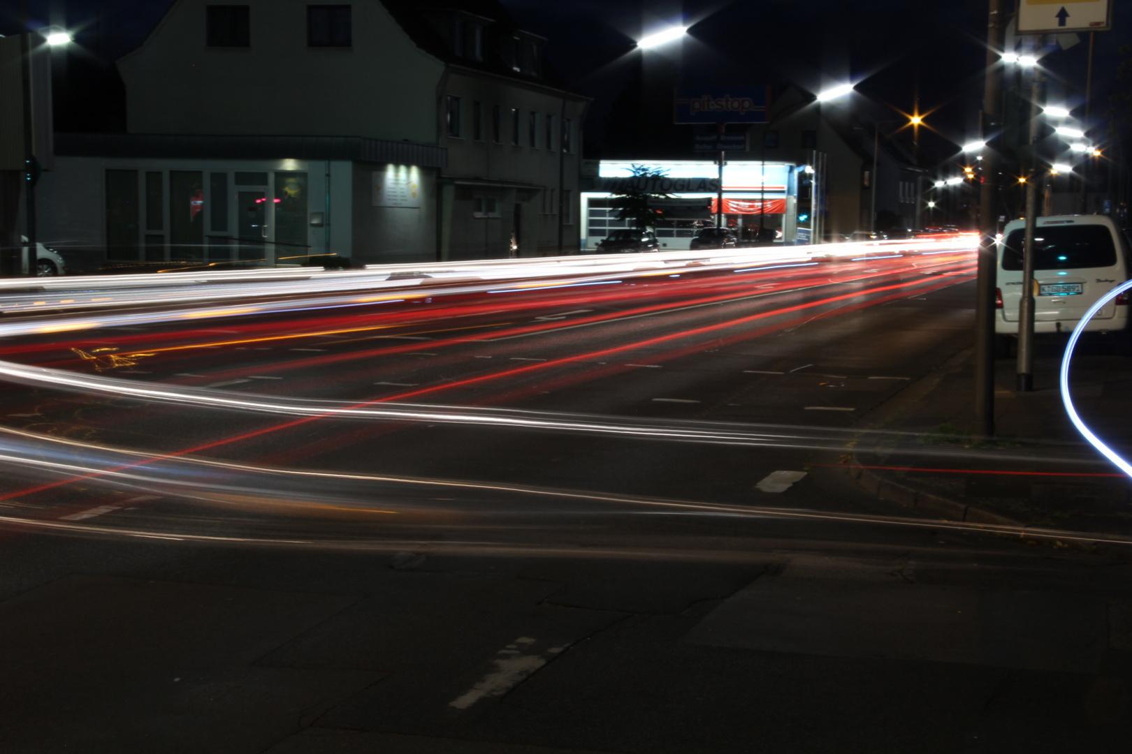 Abends an den Straßen von Köln