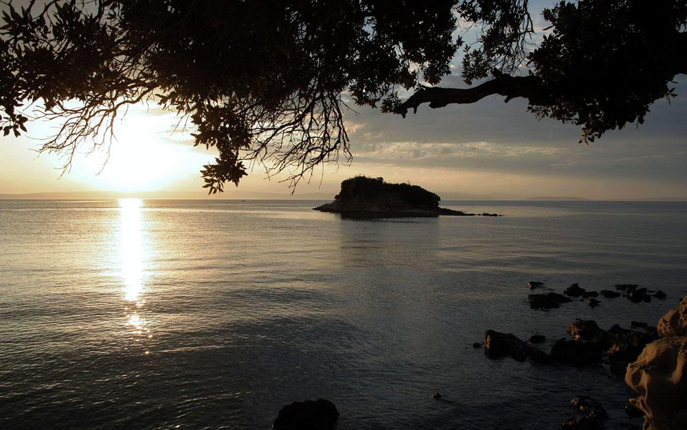 Abends an der Küste