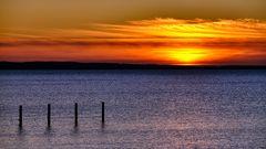Abends, an der Ostsee