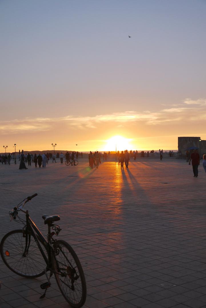 Abends an der Promenade