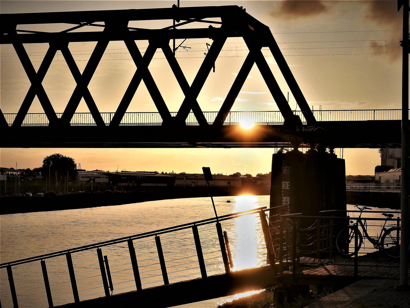 abends an der Weser