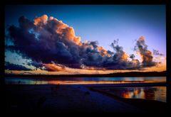 Abends auf der Sandbank