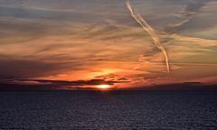 Abends auf See