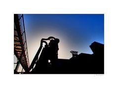 - abends auf Zollverein -