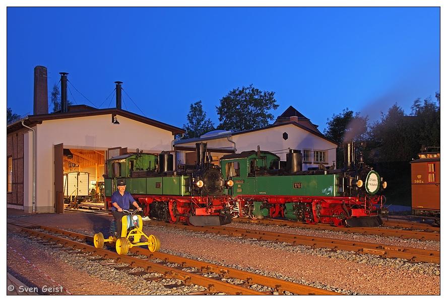 Abends im Bahnhof Wilsdruff