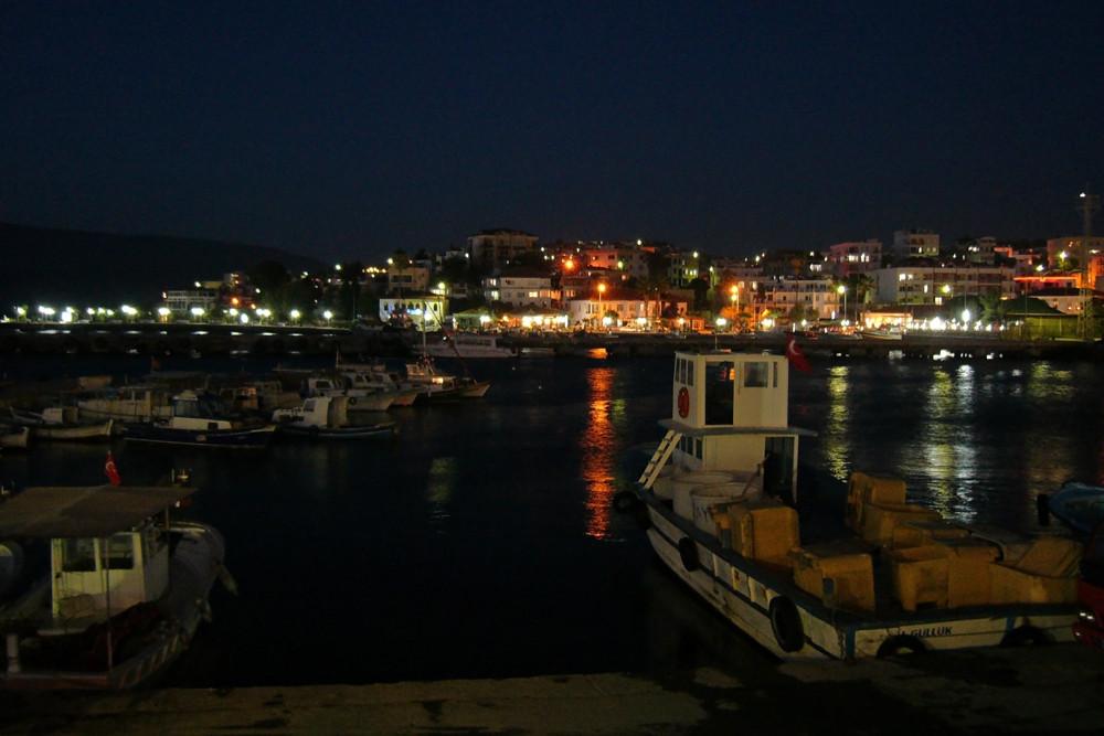 Abends im Fischerhafen (Bodrum, Türkei)