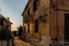 abends in chalki auf naxos