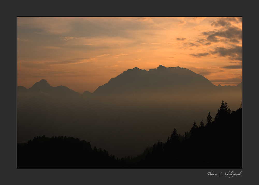 Abends in den Bergen