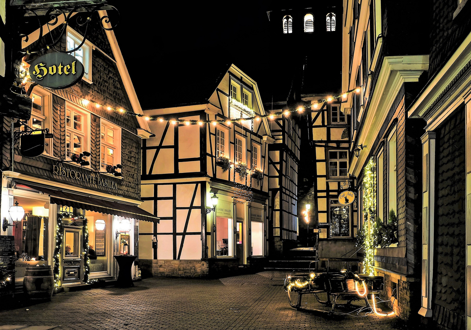 Abends in der Hattinger Altstadt