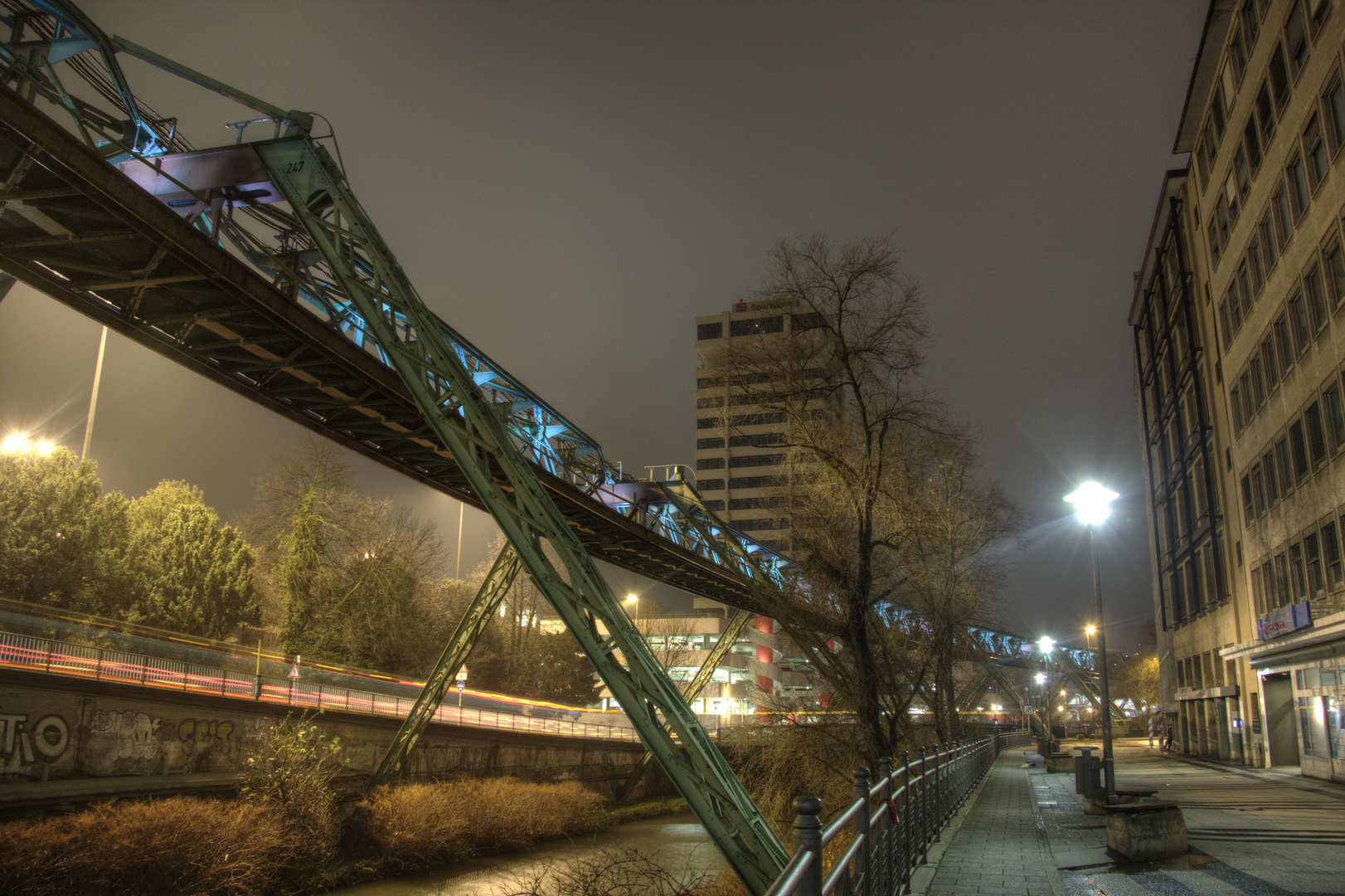 Abends in Wuppertal