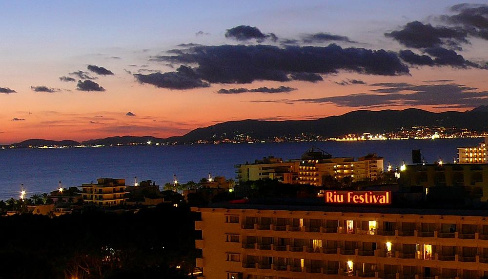 Abends über die Bahia de Palma