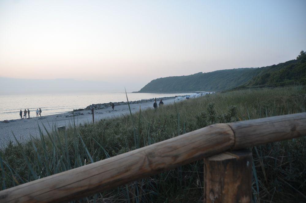 Abends um 22 Uhr am Strand