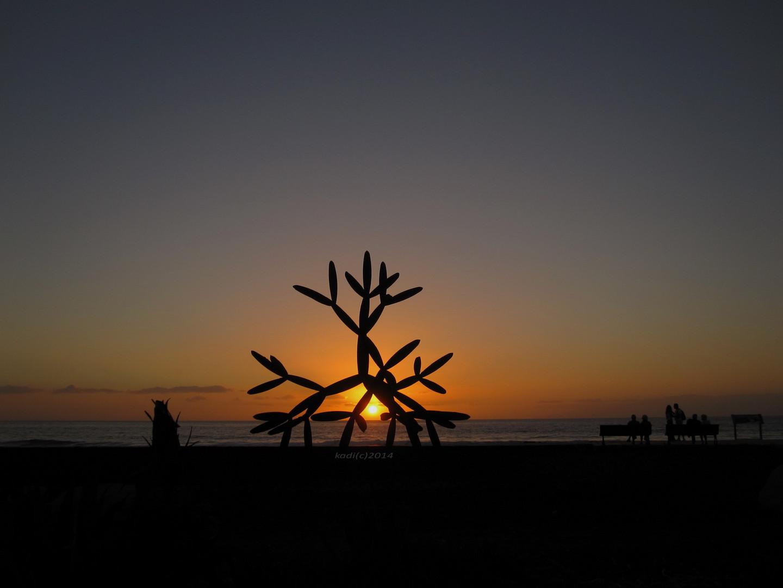 Abendsonne am Strand Teneriffa