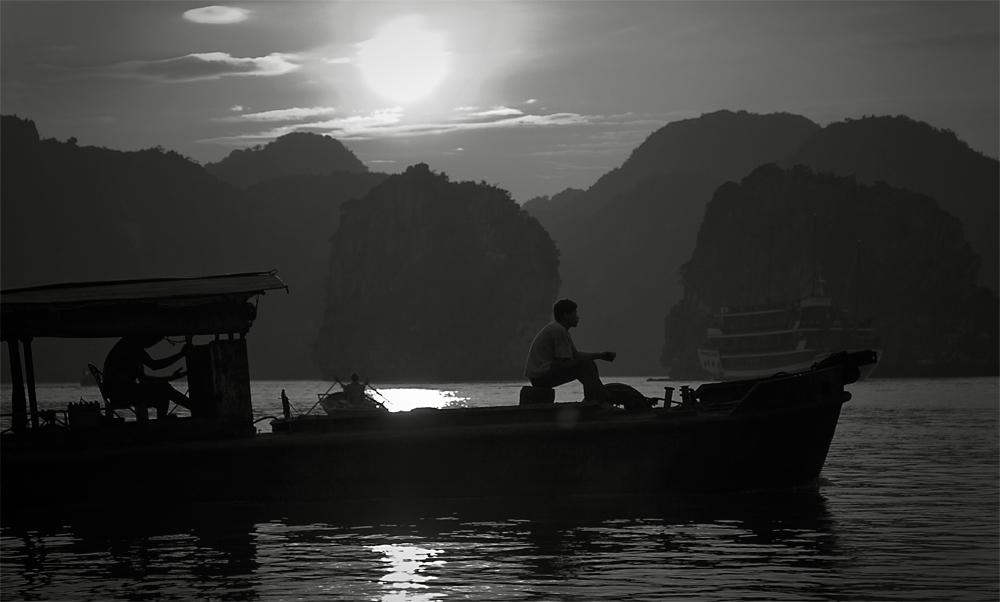 Abendsonne Halong Bay- Vietnam 2