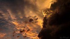 Abendsonne hinter Gewitterwolken #2