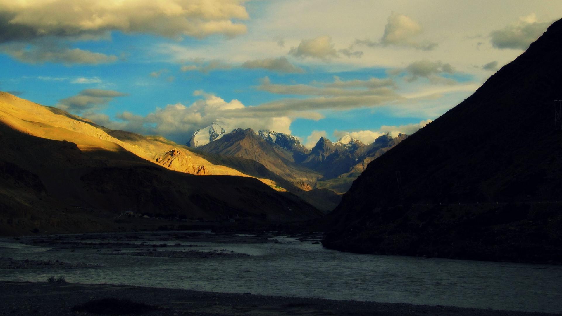 Abendsonne im Himalaya