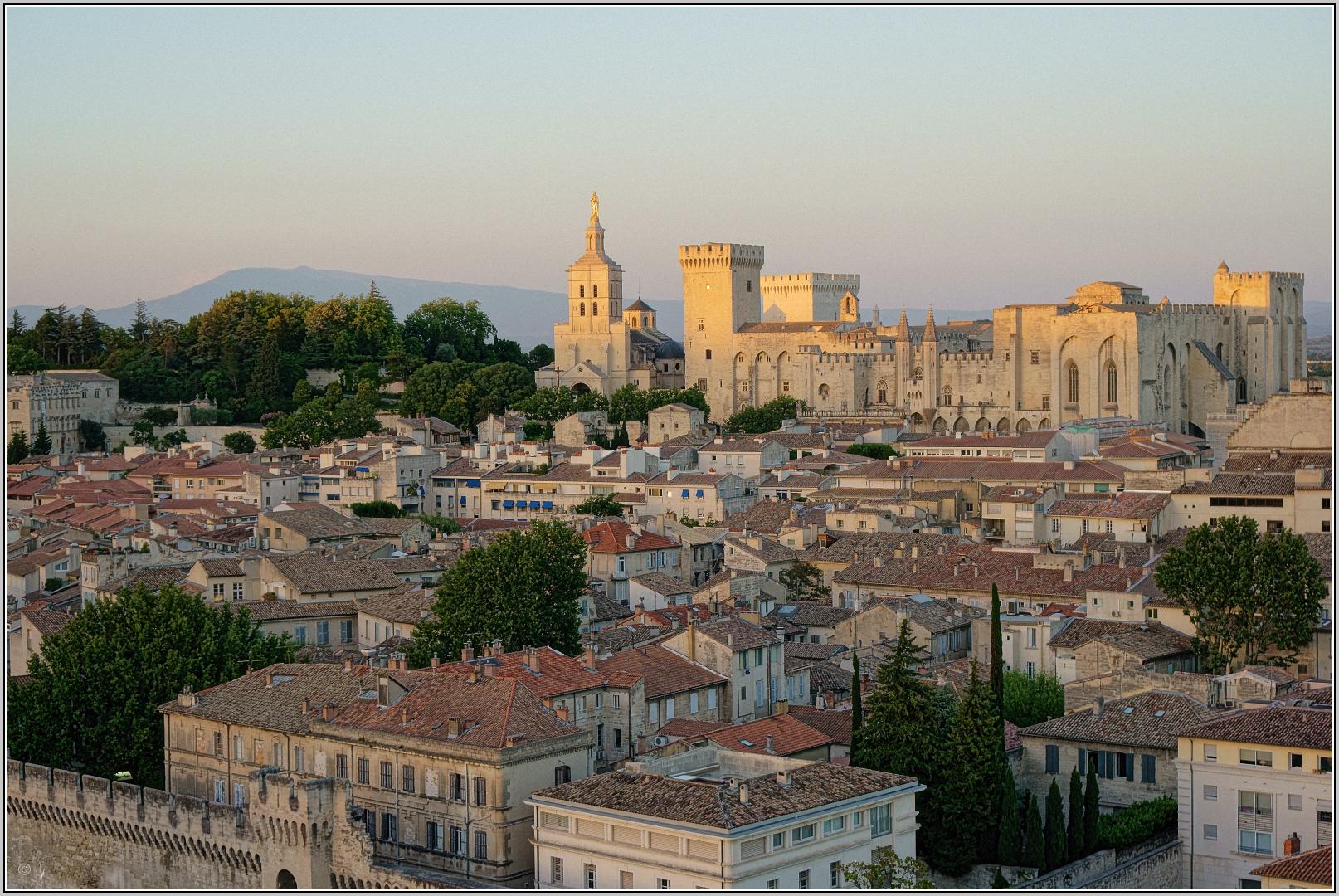 Abendsonne in Avignon