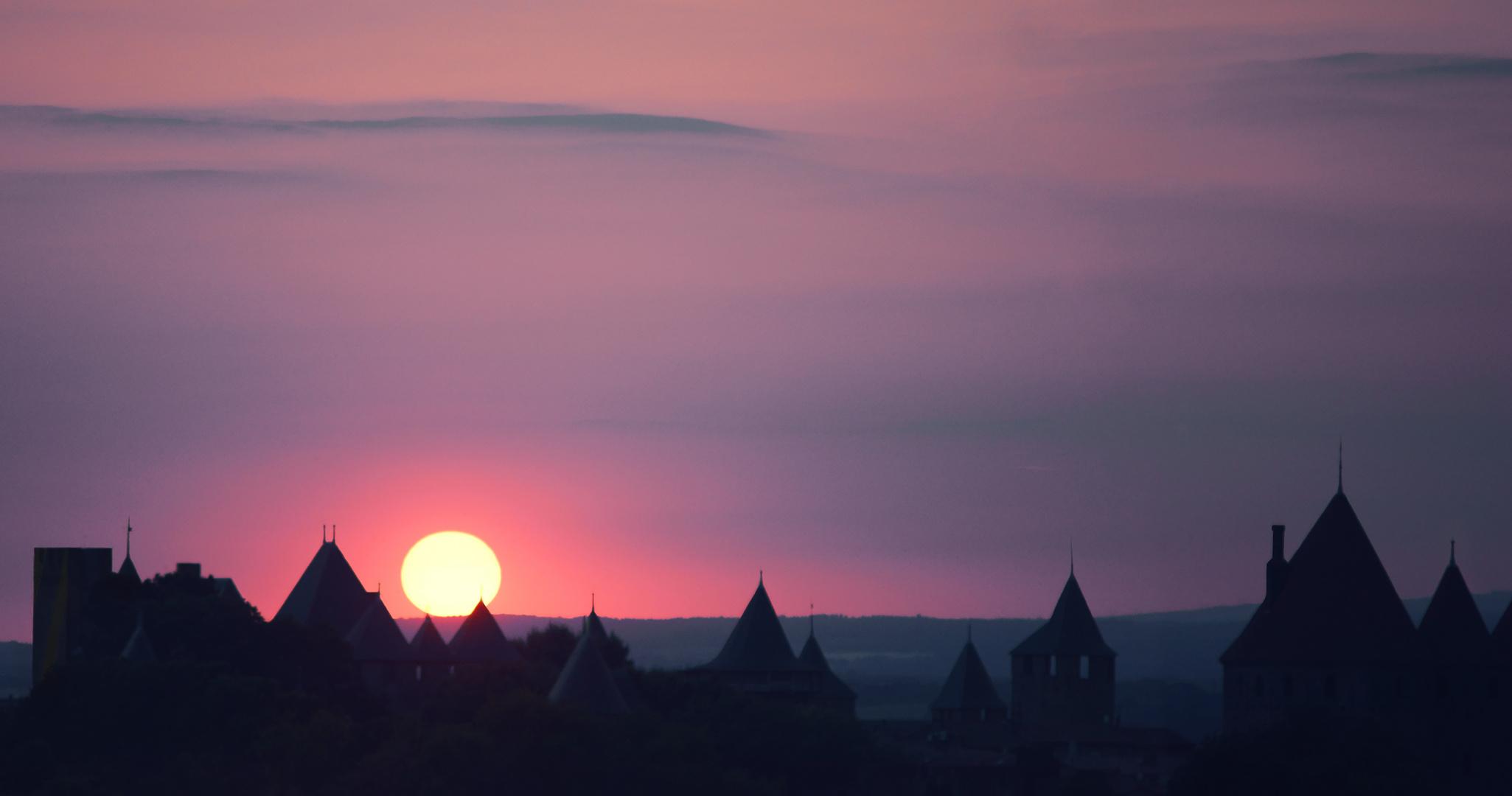 Abendsonne über Carcassonne