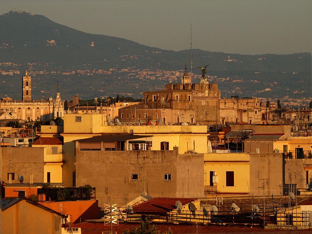 Abendsonne über Rom