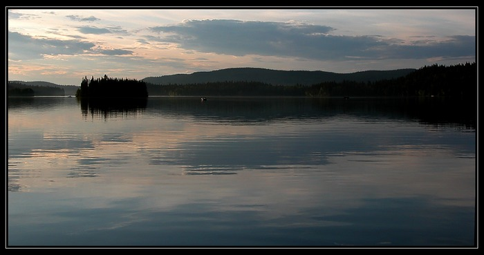 Abendstimmung am Bridge Lake (South Cariboo / BC)...