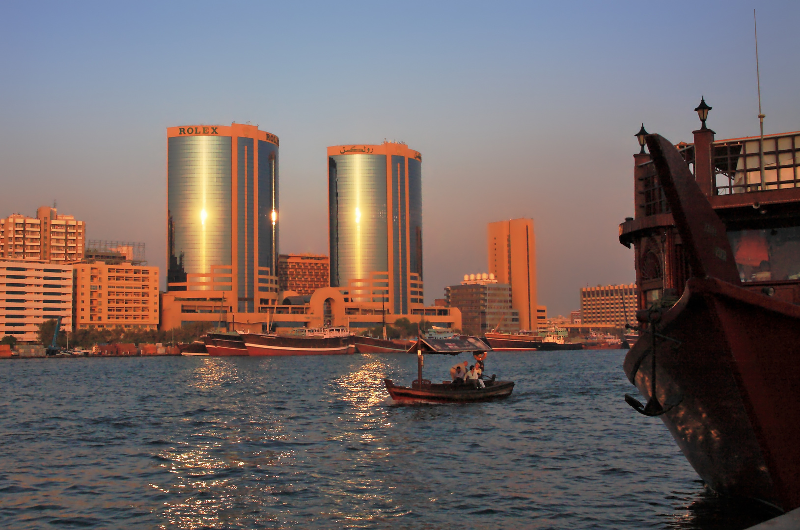 Abendstimmung am Dubai-Creek