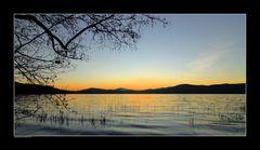 Abendstimmung am Lacher-See