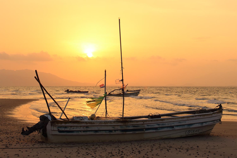 Abendstimmung am Meer (Panama, Punta Chame)