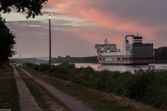 Abendstimmung am Nord-Ostsee-Kanal