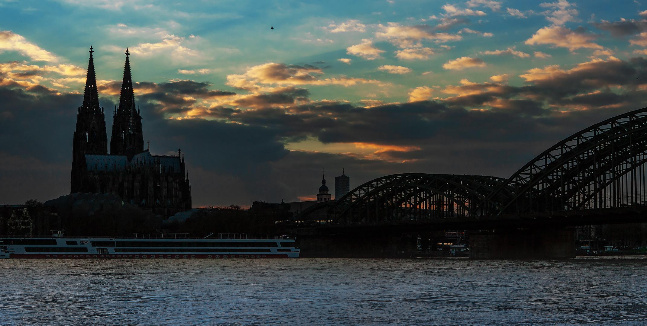 Abendstimmung am Rhein 002