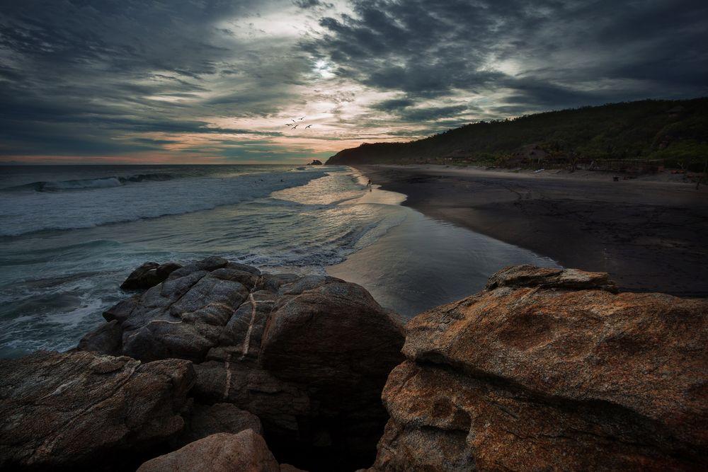Abendstimmung am Strand von Mermejita