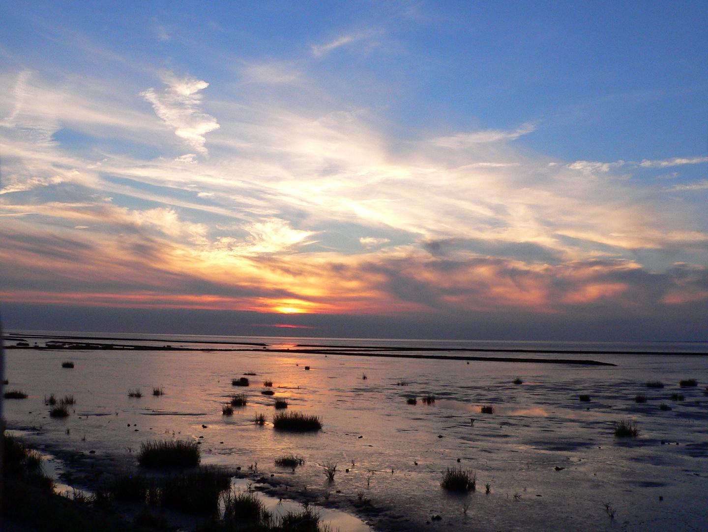 Abendstimmung am Strand von Norddeich/Ostfriesland