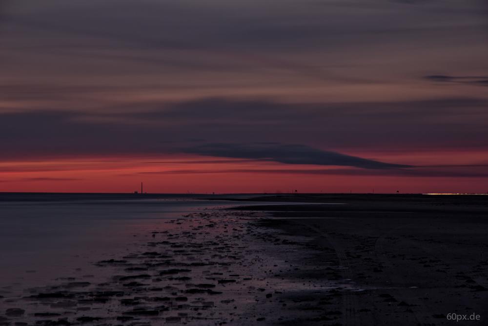 Abendstimmung am Strand von Römö