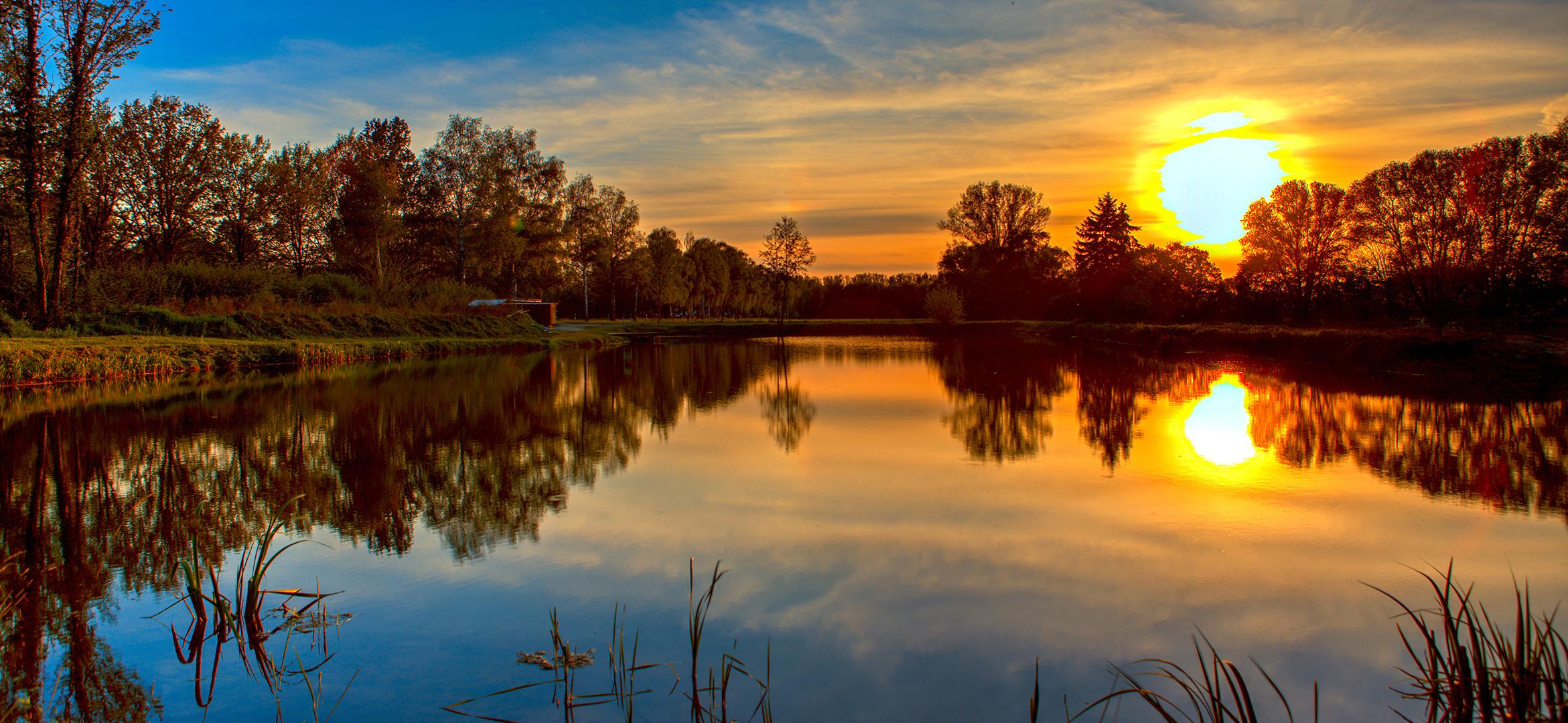 Abendstimmung am Teich 062