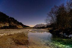 Abendstimmung am Tiroler Lech bei Rieden II