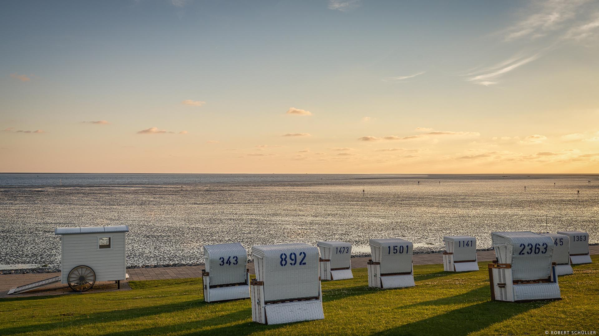 Abendstimmung am Wattenmeer.