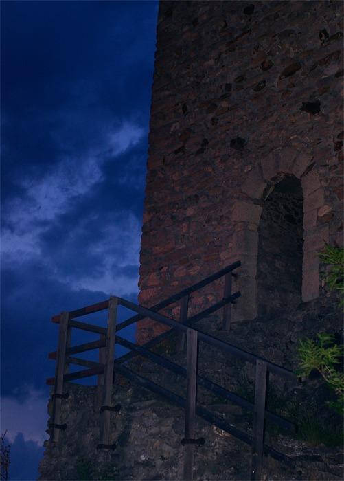 Abendstimmung am Wehrturm