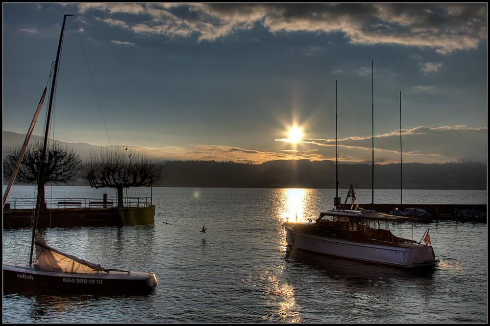 Abendstimmung am Zürichsee