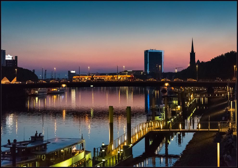 Abendstimmung an der Weser