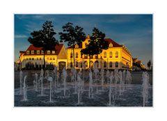 Abendstimmung auf dem Marktplatz in Neustrelitz