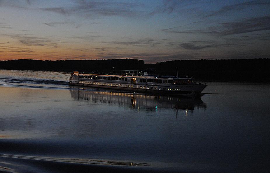 Abendstimmung auf der Donau