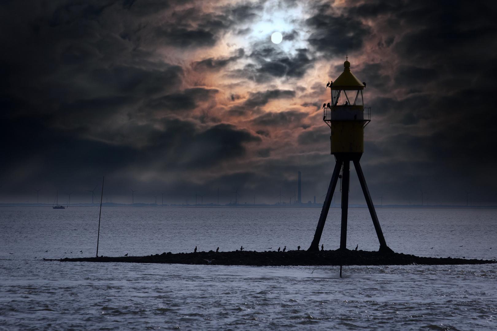 Abendstimmung auf der Weser